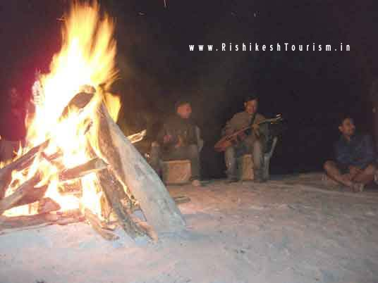 Camp Bonfire In Rishikesh